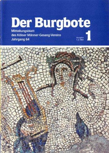 Der Burgbote 1984 (Jahrgang 64)