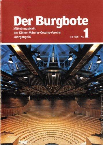 Der Burgbote 1986 (Jahrgang 66)