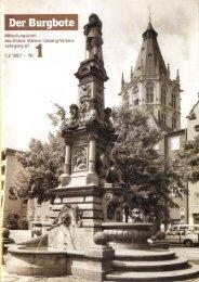 Der Burgbote 1987 (Jahrgang 67)