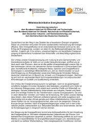 Mittelstandsinitiative Energiewende - Deutscher Industrie- und ...