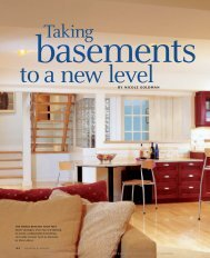 Taking Basements to a New Level - Fine Homebuilding