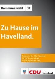 Zu Hause im Havelland. - CDU Kreisverband Havelland