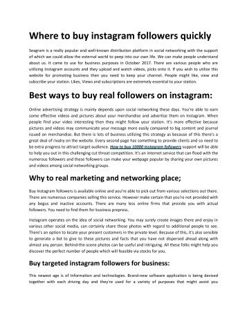 Where to buy instagram followers quickly