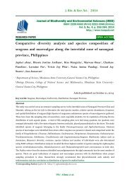 Comparative diversity analysis and species composition of seagrass and macroalgae along the intertidal zone of sarangani province, Philippines