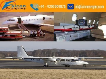 Falcon Emergency Air Ambulance Service in Patna and Nagpur for Best Services