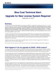 Blue Coat Technical Alert: Upgrade for New License System Required ...