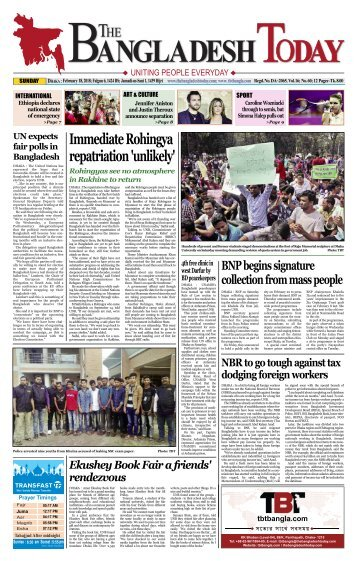 The Bangladesh Today (18-02-2018)