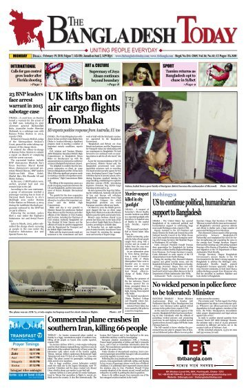 The Bangladesh Today (19-02-2018)