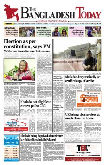 The Bangladesh Today (20-02-2018)