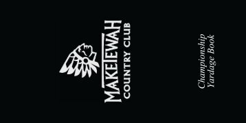 Maketawah CC Yardage Book Sample