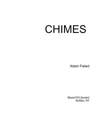 Chimes: 2018 Edition (emended Blazevox book pdf)