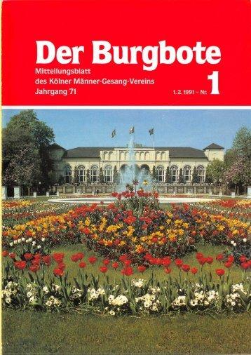Der Burgbote 1991 (Jahrgang 71)
