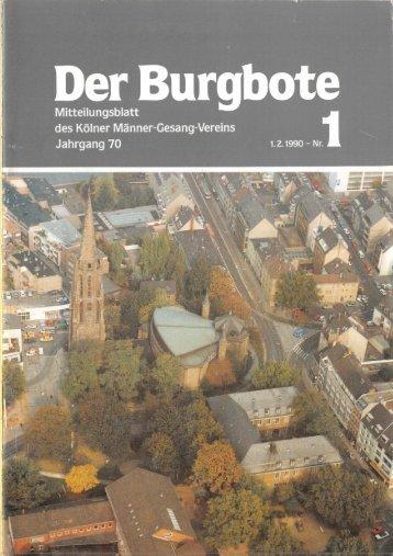 Der Burgbote 1990 (Jahrgang 70)