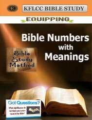 Meaning Of Biblical Numbers