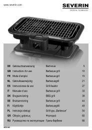 Severin PG 8536 Gril barbecue - Istruzioni d'uso