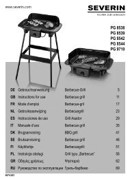 Severin PG 8542 Gril barbecue - Istruzioni d'uso