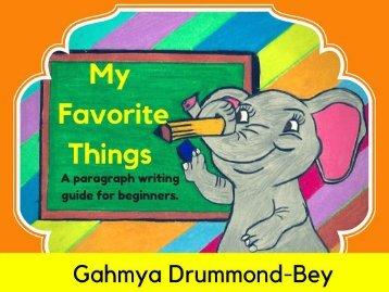 My Favorite Things Writing flipbook- Part 1