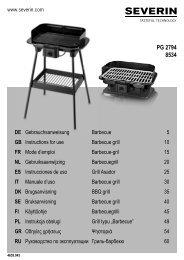 Severin PG 8534 Gril barbecue - Istruzioni d'uso