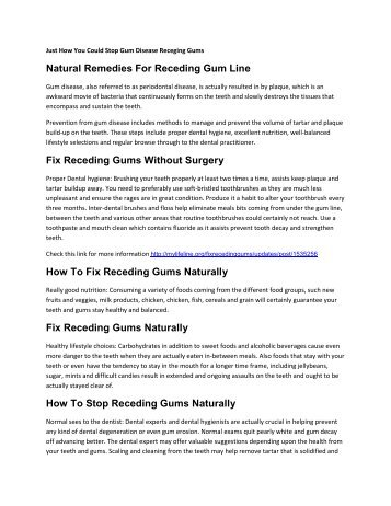 Natural Remedies For Receding Gum Line