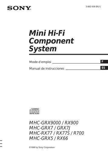 Sony MHC-R700 - MHC-R700 Consignes d'utilisation Espagnol