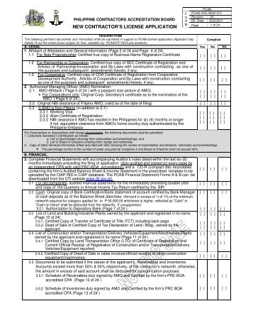 New License Application Form - A1 Contractor Services, LLC