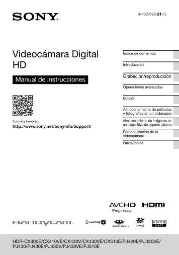 Sony HDR-CX410VE - HDR-CX410VE Consignes d'utilisation Espagnol