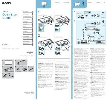 Sony KDL-32R303B - KDL-32R303B Guide de mise en route Slovaque