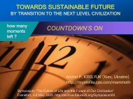 Transition to the New Level Civilisation - Future 25