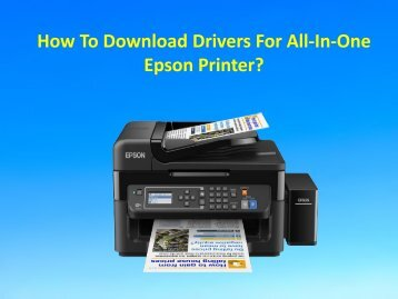 How To Download Drivers For All-In-One Epson Printer?