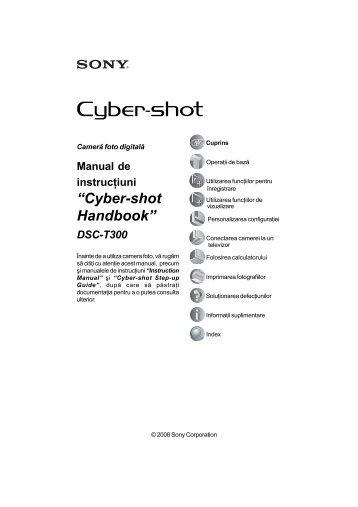 Sony DSC-T300 - DSC-T300 Mode d'emploi Roumain