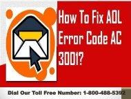 1-800-488-5392  Fix AOL Error Code AC 3001