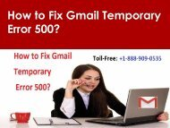 Fix Gmail Temporary Error 500 Call 1-888-909-0535 Gmail Support
