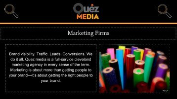 Inbound Marketing Services in Cleveland OH | Quez Media Marketing