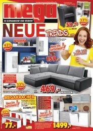 Neue Möbel-Trends bei mega Möbel in Schwandorf- und Weiden
