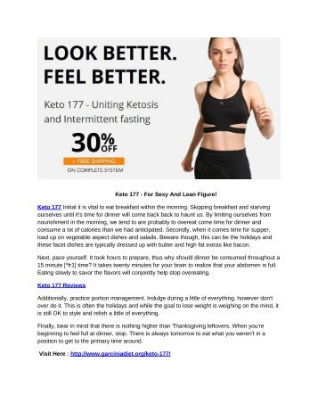 Keto 177 - Fat Burning Weight Loss Supplement