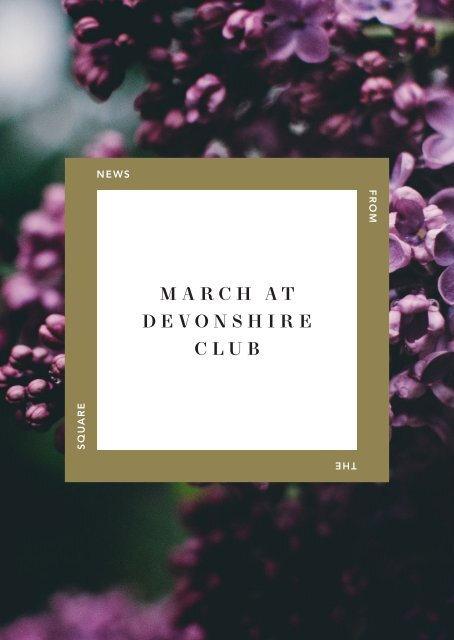 March at Devonshire Club