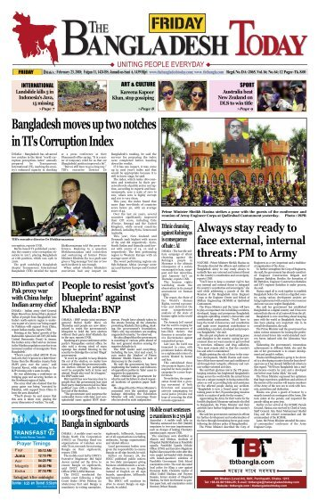 The Bangladesh Today (23-02-2018)