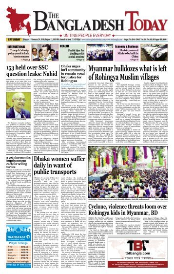 The Bangladesh Today (24-02-2018)