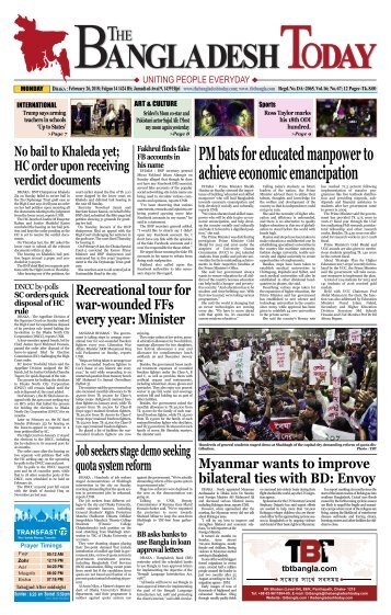 The Bangladesh Today (26-02-2018)