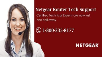 Call 1-800-335-8177 Netgear Router Tech Support