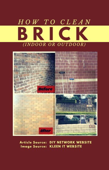 How to Clean Brick (Indoor or Outdoor)