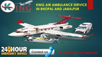 king air ambulance service in bhopal and jabalpur