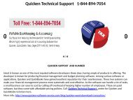 Quicken Technical Support     1-844-894-7054