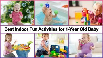 Best Educational Games & Fun Activities for 1-Year Old Babies