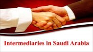 Intermediaries in Saudi Arabia