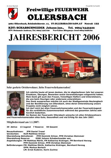Jahresbericht 2006