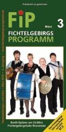 Fichtelgebirgs-Programm - März 2018