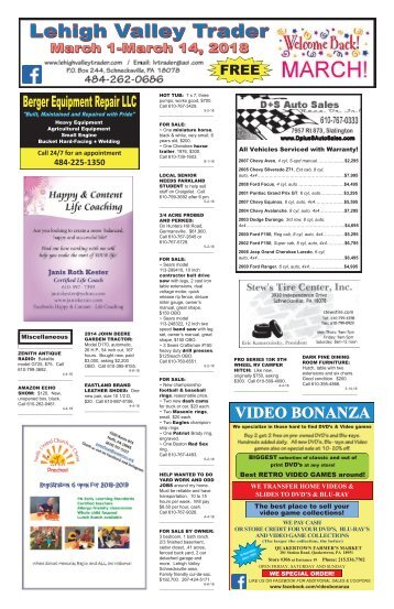 Lehigh Valley Trader March 1-March 14, 2018 issue
