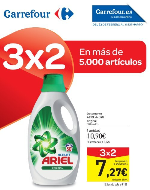Somier Cama 90 Carrefour.Carrefour Folleto Ofertas Mas De 5 000 Articulos Al 3x2 Hasta 13 De