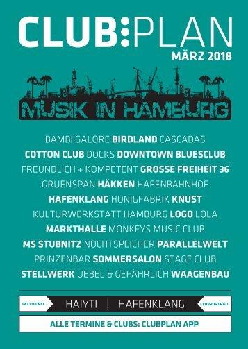 Clubplan Hamburg - März 2018